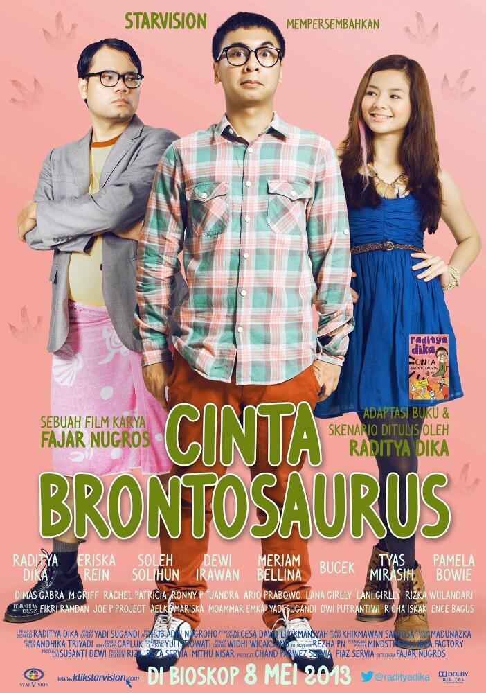poster cinta brontosaurus